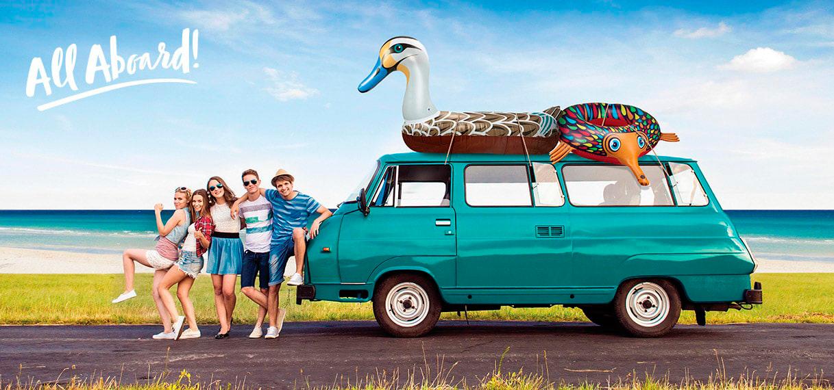 Ahoy inflatables pool float floats toys duck echidna australian gift